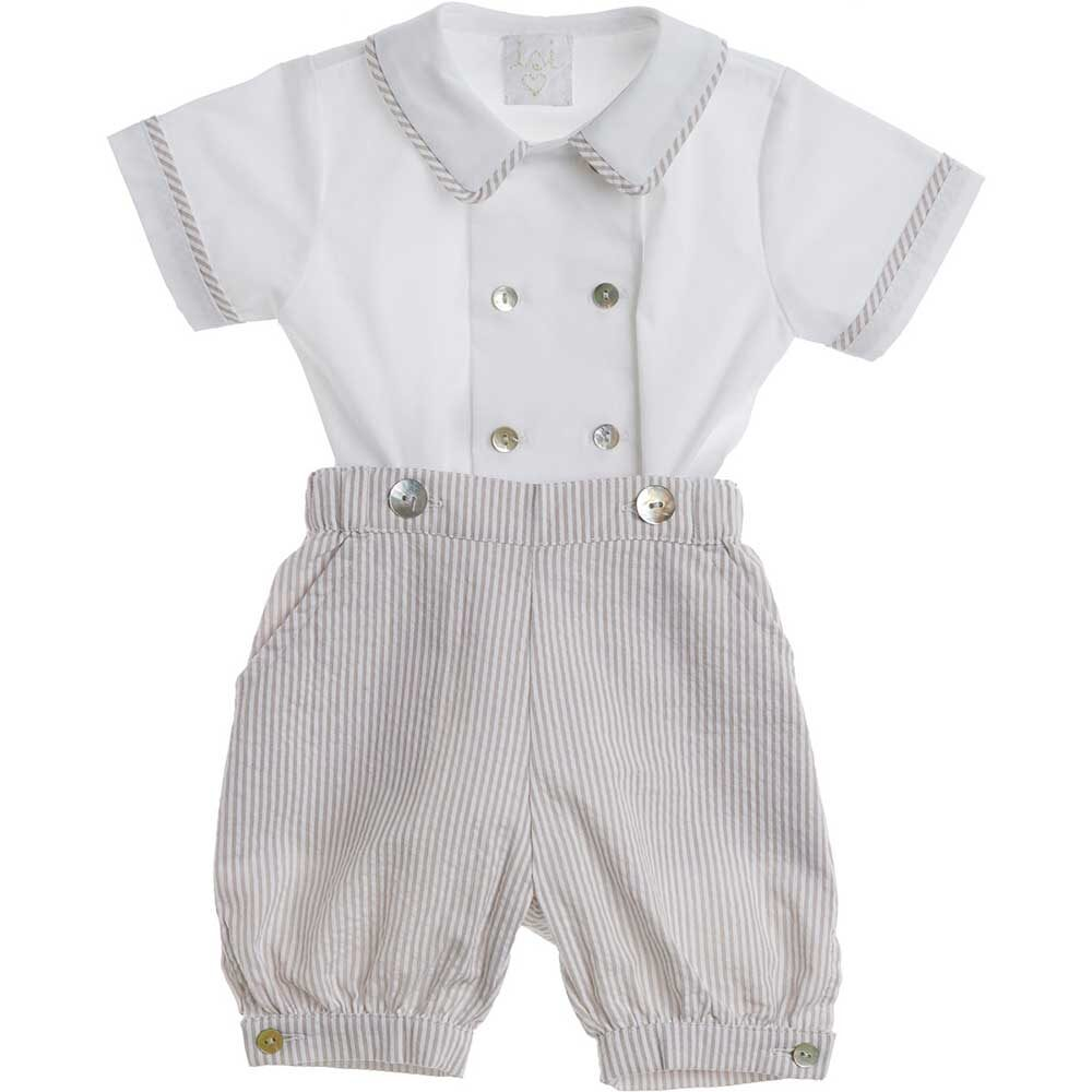 set neonato pantalone e camicia