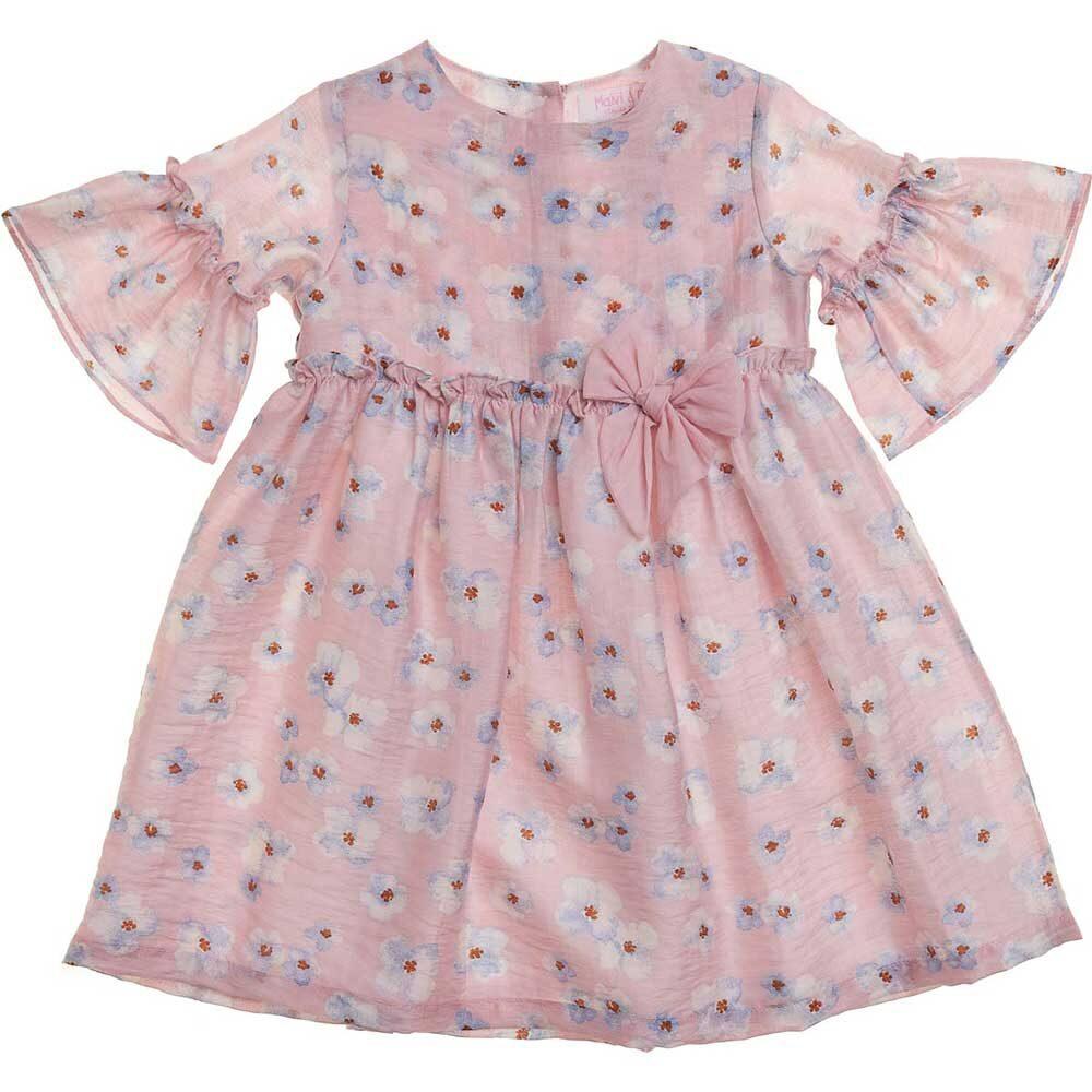 vestito rosa a fiori