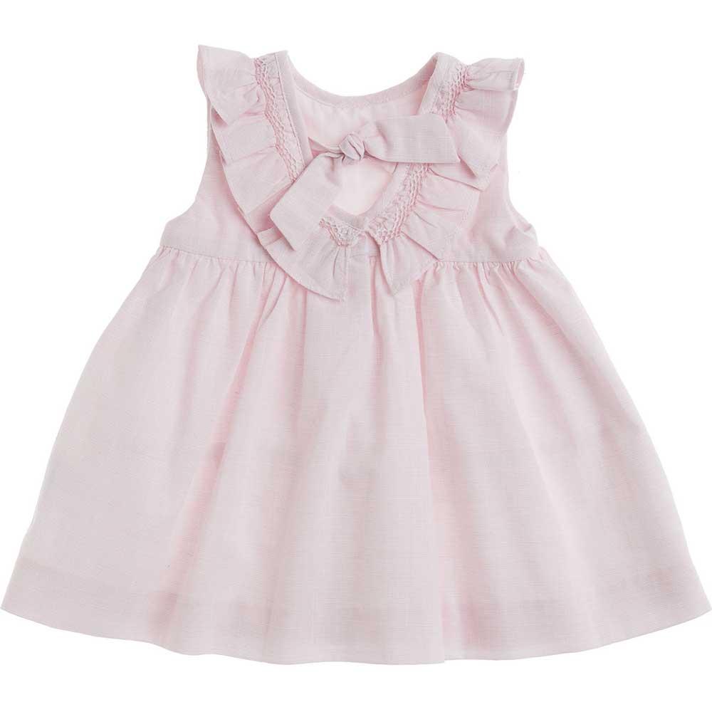 dietro vestito rosa con collo volant